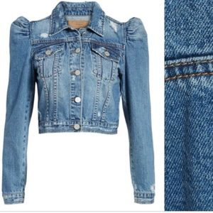 Excellent Condition BLANK NYC Puff Slv Jean Jacket